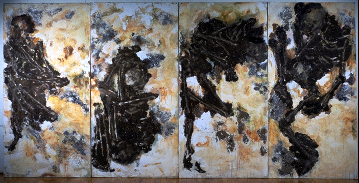 Fossil - Bone Series - Mixed-Media Painting